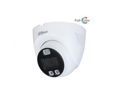 Уличная купольная HDCVI-видеокамера Full-color Starlight с активным сдерживанием DH-HAC-ME1509TQP-PV-0360B