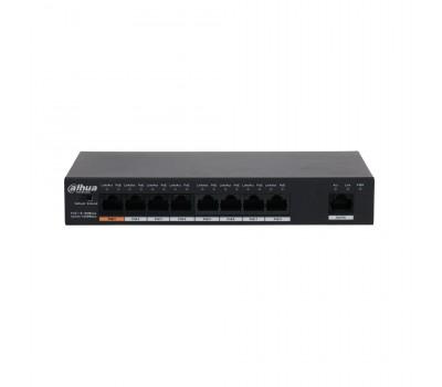 8-портовый неуправляемый коммутатор с РоЕ DH-PFS3009-8ET1GT-96