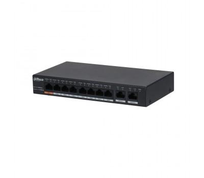 8-портовый неуправляемый коммутатор с РоЕ DH-PFS3010-8GT-96