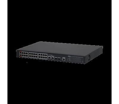 DH-PFS4226-24GT2GF-240 24-портовый гигабитный управляемый коммутатор с PoE, уровень L2