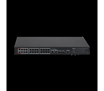 DH-PFS4226-24GT2GF-360 24-портовый гигабитный управляемый коммутатор с PoE, уровень L2